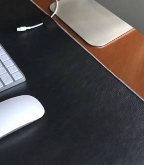 Alfombrilla de cuero para escritorio de Harber London