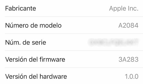 firmware 3A283 AirPods Pro