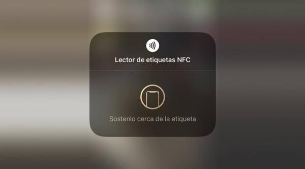 Lector de etiquetas NFC de iOS 14