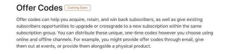 Códigos de oferta para suscripciones iOS 14