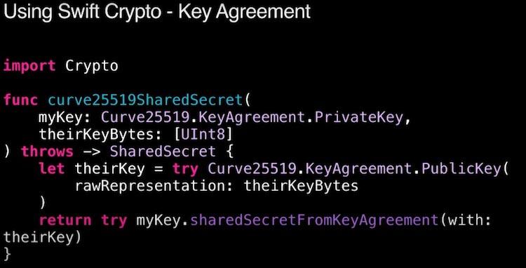 Criptografía con Swift Crypto