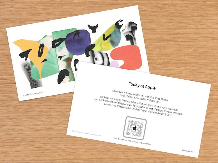Código QR en una Sesión Today at Apple |Foto: 9to5Mac