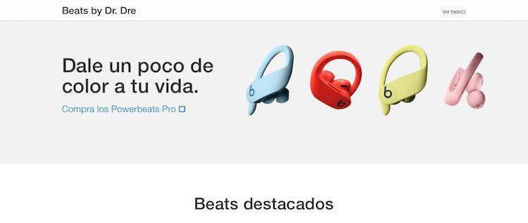 Web Apple - Accesorios Beats