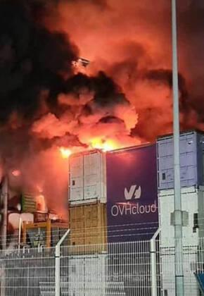 Incendio de OVH en Estrasburgo